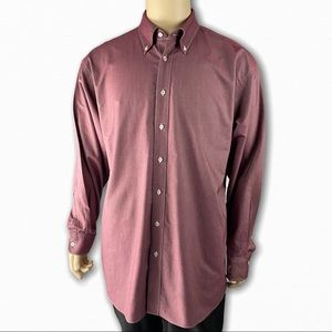 Red Long Sleeve Button Down by Ashworth
